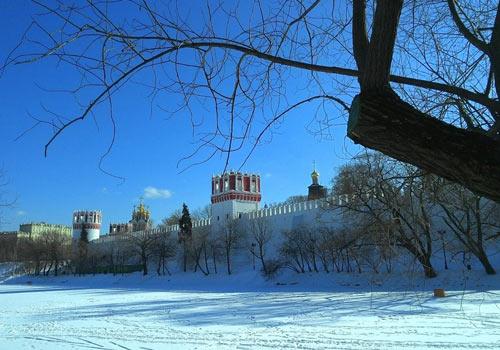 Вид на Новодевичий с пруда